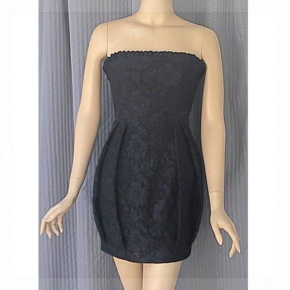 Alice Olivia Dresses Alice Olivia Black Lace Strapless Dress Xs